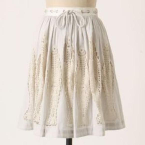 ANTHROPOLOGIE * FLOREAT Dresses & Skirts - ANTHROPOLOGIE Cloudfish Crochet Full Skirt 0-2